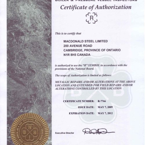 HDP - Certificate of Authorization - R Stamp